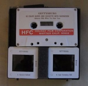Mid Century 60s 70s Gettysburg 40 Color Slides & Cassette Holiday Film Corp HFC