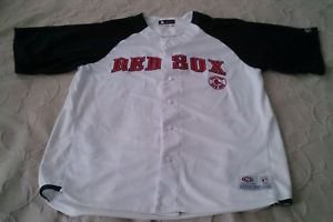 BOSTON RED SOX EMBROIDERED sewn jersey True Fan Mens Large 42-44 white blank