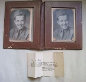 World War II Military US Army Soldier Portrait Photograph US Leather Binder 2