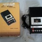 Chelco TR-400A Deluxe Cassette Tape Recorder w/handle & earbud in Original Box
