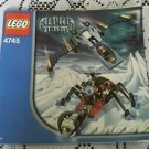 Legos Alpha Team Set # 4745 Blue Eagle vs Snow Crawler Instructions Manual Only!