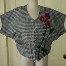 Ginny Ruth Original Patchwork Quilted Jacket Blazer Coat One Size L/XL Handmade