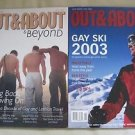 2 Out & About & Beyond Magazines Lot Back issues Gay & Lesbian Travel Rare HTF