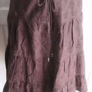 Womens S Abercrombie & Fitch Skirt A&F Tiered Boho Embroidered Drawstring Midi
