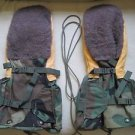 Military Issue Extreme Cold Weather Mitten Set Shooting Trigger Finger Gloves