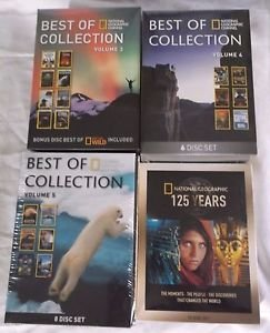 Lot 4 Best of National Geographic Collection Vol 3 4 5 + 125 Years DVD Disc Sets