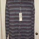 Vintage Wimbledon Van Ella Van Heusen Striped Casual Shirt Cotton Wool Mens XL