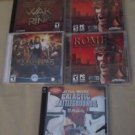 Star Wars Lord of the RIngs Rome Total War PC Game Lot  of 5 Games 2003 & 2004 T