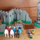 Lil' Playmates/Wonder Tree Medieval CASTLE PLAYSET Knights Figures Horse Cannon