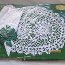 NOS NIP Lot 3 Vintage Hand Crocheted Doilies Breakfast Sets Placemats Napkins