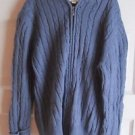 Girls Cabelas Hooded Cable Knit Full Zip Up Cardigan Sweater Jacket L Slate Blue