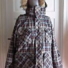 Liquid Venture Mountain Boardwear Hooded Plaid Insulated Ski Jacket Parka Mens L