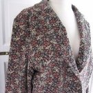 Womens LL Bean Cotton Corduroy Floral Blazer Style Jacket Coat 16 0BDG5 Lined