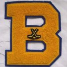 B Field Ice Hockey Letterman Patch Jacket Varsity Chenille High School College