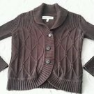 G.H. Bass Limited Edition Heritage Collection Cable Knit Button up Sweater sz L