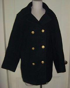 Maine Maritime Academy Official Uniform Heavyweight Wool Gold Peacoat Womens L