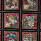 Seasons Greetings Fabric Freedom London England Cotton Fabric Holiday Nativity