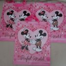 Lot of 3 Disney Mickey Mouse Minnie Perfect Match Hallmark Expressions Gift Bags