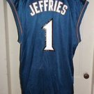 Mens NBA Authentics Reebok Team Apparel Washington Wizards #1 Jared Jeffries XL