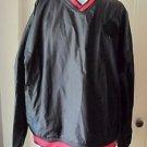 Rawlings Black V Neck Pullover Referee Official Nylon Jacket Side Zip MENS sz XL