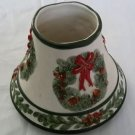 Yankee Candle Christmas Holiday Wreaths Jar Topper LampShade Large 1132730 J/S