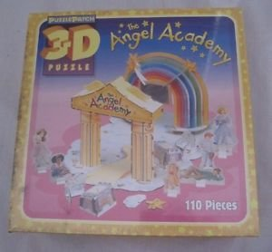 NEW 3D The Angel Academy Puzzle Patch Jigsaw Puzzle 110 pieces 2003 USA