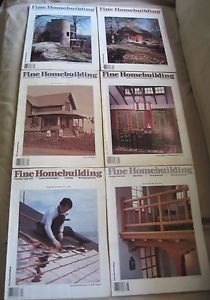 Fine Homebuilding Back Issues Magazines Lot of 6 1980's DIY Home Remodeling 80s