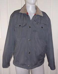 Vintage Rugged Wear BOG Flannel Lined Insulated Canvas Barn Work Jacket Mens M