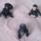 Lot 3 Apes Gorrillas Monkeys Safari Ltd Wild Animals African Play Toys RUBBER