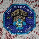 1990 Pine Tree Council Camp William Hinds Boy Scout Patch Badge Maine ME BSA Cub