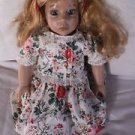 "1993 Ashley 18"" Articulated Soft Body Doll Syndee Crafts Floral Dress Underwear"