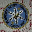 1991 Casco Bay District Klondike Derby Boy Scout Patch Badge Cub Maine ME BSA