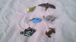 Lot 6 Fish Seal Parrot Duck Safari Ltd Wild Animals Play Toys RUBBER Figures