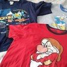 Lot of 3 Walt Disney World TShirts Tees Donald Duck Grumpy 7 Dwarves Mens sz XL