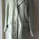 NOS Vintage Carlucci Boucle Nubby Woven Coat jacket womens Large 94314 Lime