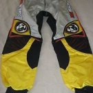 Thor motocross Nylon pants style # 1210 size 34 Black Yellow Knit Cuffs Korea