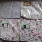 4 Vintage 1950s Wedding Anniversary Wrapping Paper Squares Ben Mont Crafts
