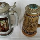 Lot of 2 Numbered Avon Large Steins American Indians/Blacksmith Ceramarte Brazil
