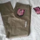 Dickies Girls 5 Pocket Classic Skinny Pants Low Rise Khakis womens 11 HH164 Tan