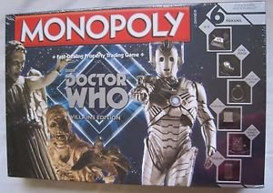 New Monopoly BBC Doctor Who Villains Edition Board Game 6 Collectible Tokens