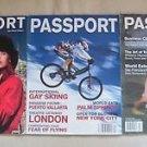 3 Passport Magazines Lot Back issues Gay Interest Travel Oct Dec 2001 Premier
