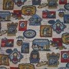 Vintage Colonial Primitive American Craftsman Waverly Bonded Fabric 48.5 x 67.5