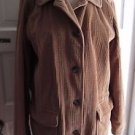 Womens LL Bean M Corduroy Jacket Quilted Liner Wide Wale Insulated Barn Shirt