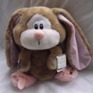 NOS 1985 Applause 5371 Trudy Bunny Rabbit in Pink Slippers Plush Stuffed Easter