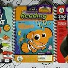 Lot of 3 Leap Pad Books & Cartridges Cat in The Hat Finding Nemo Shrek 2 Frog