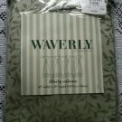 "NOS Waverly Home Fashions Richmond Sage Liberty Valance 42"" x 18"" Pleated Tabs"