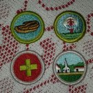 Lot of 3 Vintage Church Moccasin First Aid Boy Scout Patch Badge Maine ME BSA