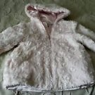Bon Bebe Faux Fur Winter Dressy Hooded Hoodie Jacket Coat Parka Little Girls 3T