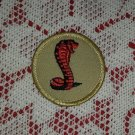 Vintage Cobra Boy Scout Patch Badge Maine ME BSA Cub Insignia Merit
