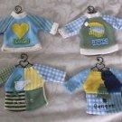 4 Teresa Kogut LOVE FAITH PEACE BELIEVE Sweater Shirt BEAR DOLL Metal Hangers